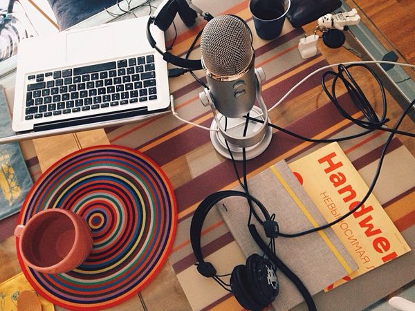 The Interview//. Podcast Interview Working Enjoying Life Lifestyle Hello World Design Talk Art Desks From Above Freelance Life Notebook Technology Room Indoors  Colorful Life Designer  Lifestyles City Life Colors Interior Views The Mix Up Embrace Urban Life