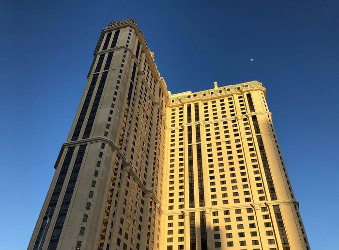Upwards. To the 32nd floor and 'Good Night'. Moon Las Vegas Hotel Low Angle View Built Structure Architecture Sky Building Exterior Tall - High Clear Sky Travel Destinations Tower