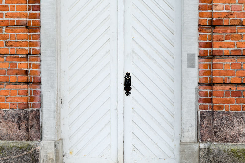 Chruch Wooden Old White Kappeln Schlei Schleswig-Holstein Building Decorative Object Protection Safety Security Brick Wall Architecture Building Exterior Built Structure Close-up Door Latch Closed Door Closed Doorknob Door Handle Keyhole Locked Front Door Entry Entryway Shutter 17.62° The Art Of Street Photography