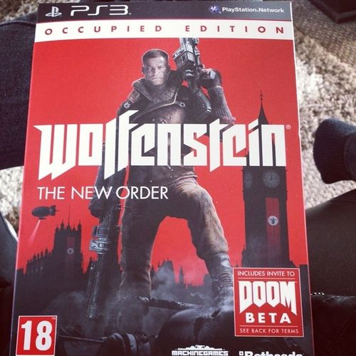 Just got Wolfenstein :D Excited Game Ps3 Wolfensteintheneworder doombeta