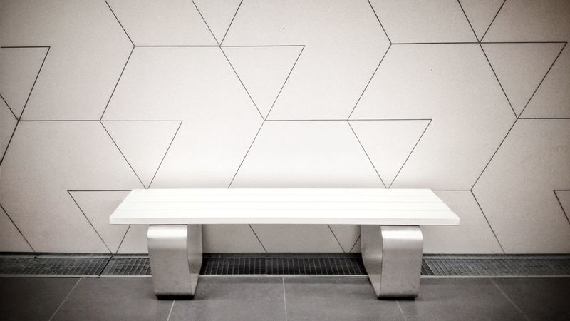 Technology Indoors  No People Day EyeEm Best Shots Metro Metro Station Catania, Sicily Sicily ❤️❤️❤️ ArtWork Panchinavuota Contemporary Modern Furnitures Geometric Pattern EyeEm Nature Lover EyeEm Gallery Arts Culture And Entertainment Art And Craft White White Background White Color White Wall The Secret Spaces Art Is Everywhere Long Goodbye EyeEm Diversity