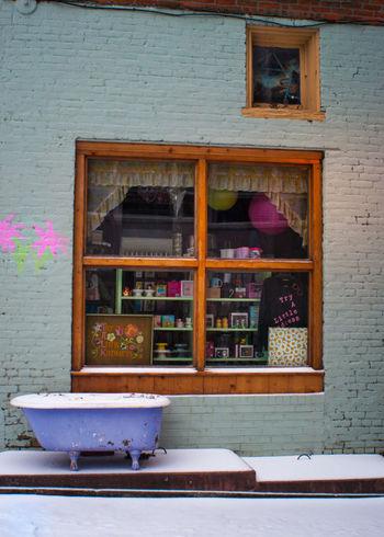 Bathtub Bathtub Shenanigans Blizzard Building City Day Durham Façade Jonas Multi Colored North Carolina Outdoors Snow Snow Covered Snowy Ground Southeast Store Window Winter