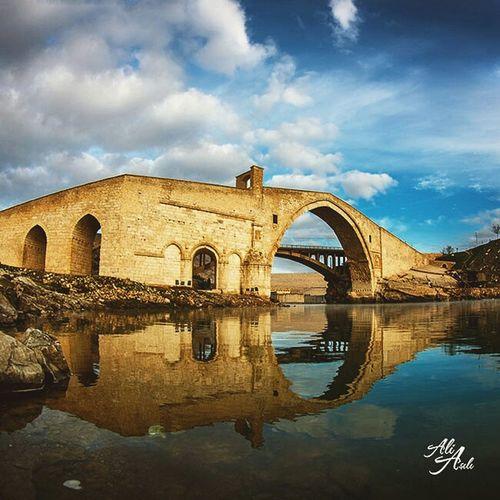 Good morning - Günaydın. ☕ ☺ ? Malabadi Bridge ... Architecture Historical Traveling EyeEm Best Shots - Landscape Bridge Water Reflection Taking Photos Popular Photos On The Road
