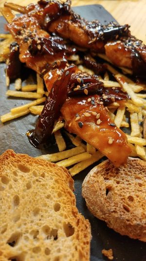 Food And Drink Food Close-up Ready-to-eat Healthy Eating Chiken Chiken Spice.. Teriyakisauce