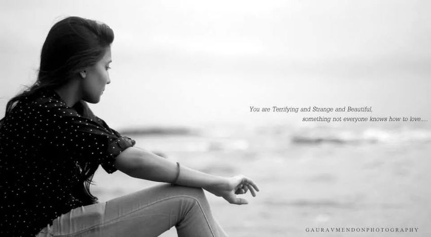 My love !! Conceptual Photography  Monochrome Sea View People