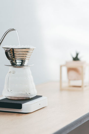 Specialty coffee making Close-up Coffee Coffee Cup Coffee Time Freshness Home Interior Pour Over Coffee Specialty Coffee Table