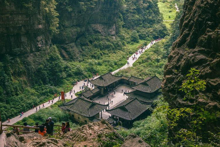 Wulong karst national geology park unesco nature world heritage in chongqing, china