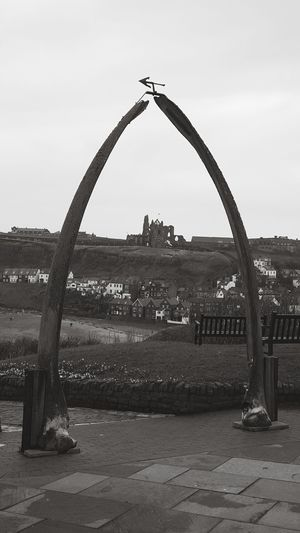 Sky Outdoors No People Water Day Nature Freshness Whitby Whitby Abbey Whitby North Yorkshire Whale Bones Arch Black And White Seaside Yorkshire