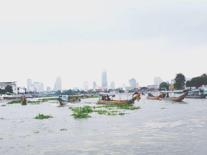 Thailand Bangkok River Boats City Capital