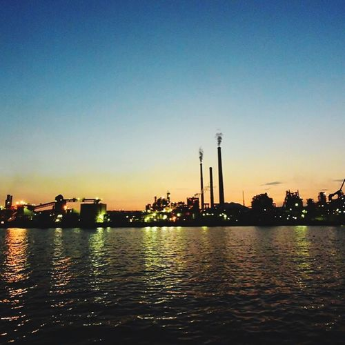 Dusk Dusk In The City Lights At Dusk Twilight Twilight Sky Industrial Area Night View First Eyeem Photo
