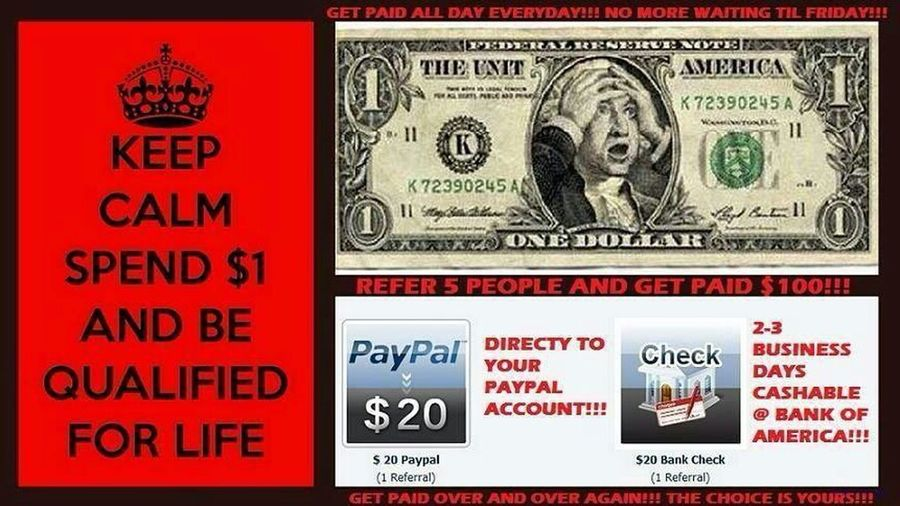 BOOM!! Join Today For a very Low Price ($1.00) For Only One Time , No Monthly Fee !! NO Hidden Fee !!! This Is Legit!! Is Not a Scam!! I can Promise You That!! .. MUST SENT ME A FRIEND REQUEST THEN INBOX ME!! 18yr & older & Usa Http://www.starter.instantrewards.net/index.php?ref=392591