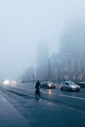 Fog Weather Car Rain Traffic Winter Transportation Extreme Weather Outdoors Cold Temperature