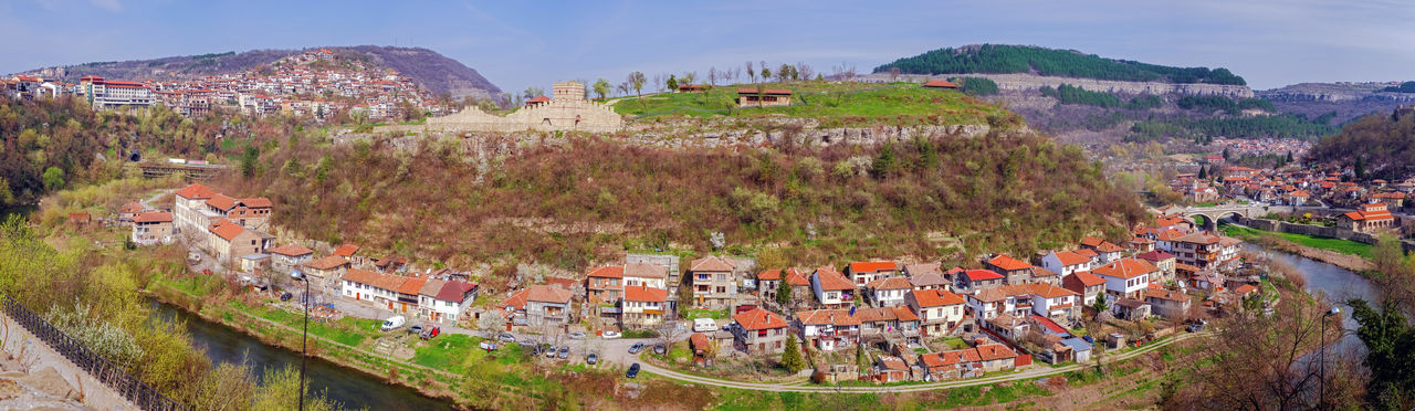 Panoramic view over the old city and Yantra river. Veliko Tarnovo city, Bulgaria Bulgarian Nature Monuments Old Town Resort Hotel Turistic Attractions Veliko Tarnovo, Bulgaria Veliko Turnovo VelikoTarnovo Yantra Hotel Veliko Tarnovo Atraction Bulgaria Destination Hotels And Resorts Old Old Buildings Old House River Turism Turistic Places Veliko Yantra Yantra