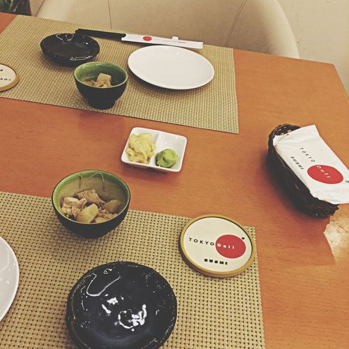 Eating Sushi Sashimi  Hanging Out