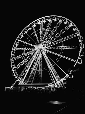 Welcome To Black Ferris Wheel Night Illuminated Arts Culture And Entertainment Celebration Outdoors Scheveningen  Light Up Your Life Beach Walk Light In The Darkness EyeEmNewHere Vacations Travel Tourism Light From Where I Stand Cultures 2017 Sky Ferris Wheel Blackandwhite Photography Black&white Blackandwhite White Color