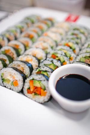 Close-up Food Freshness Indulgence Japanese Food Meal Ready-to-eat Refreshment Roll Selective Focus Soyu Sushi Sushiroll Beautifully Organized