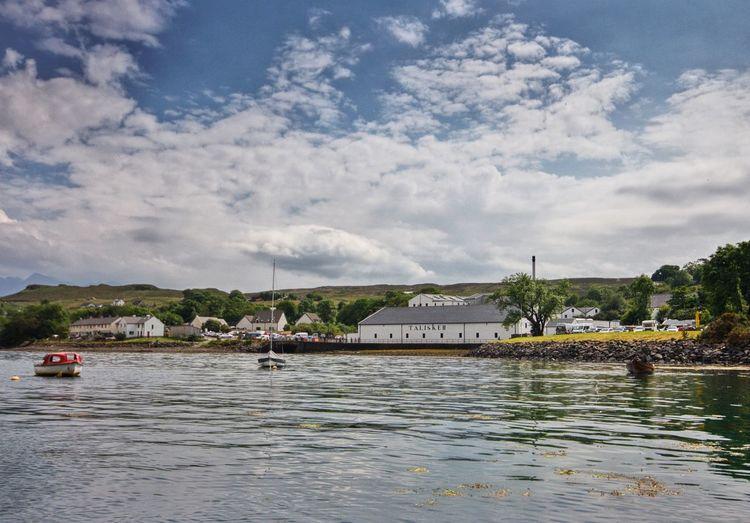 Talisker distillery, Isle of Skye Diageo Skye Isle Of Skye Carbost Talisker Distillery Water Cloud - Sky Nautical Vessel Sky Transportation Mode Of Transportation Tree Waterfront