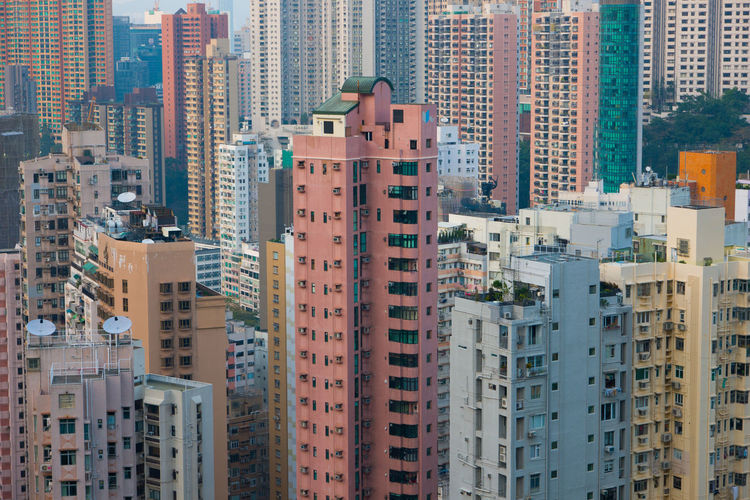 Hong Kong Buildings Building Exterior City Building Architecture Built Structure Residential District Office Building Exterior Cityscape Skyscraper Day Tall - High No People Modern Outdoors Tower High Angle View City Life Travel Destinations Apartment Housing Development Above