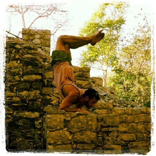 Coba Mayan Ruins Stupidyogatricks Scorpionpose Yoga Mayanruins