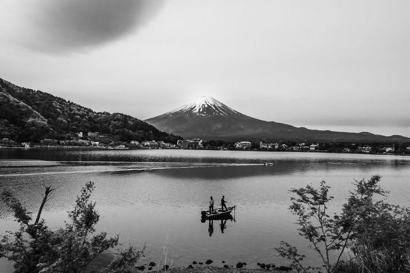 Japan Juji mountain Japan Fujisan Mountain Nature Outdoors Black And White Valley Mountain Range Horizon Over Water Sea And Sky
