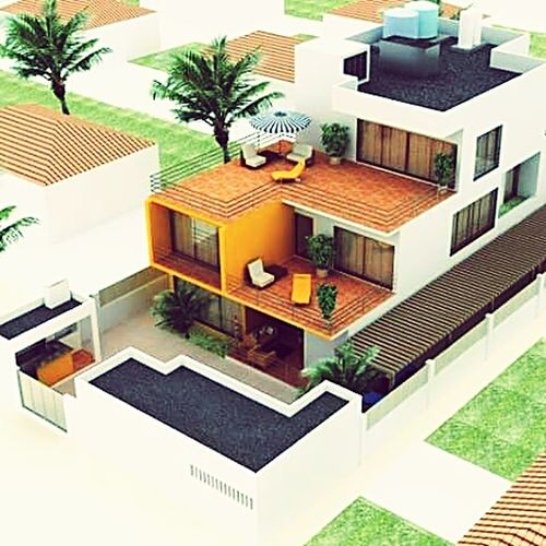 AutoCAD Autocad2015 Design We Love It City Modern Palm Tree Residential Building Architecture Building Exterior Built Structure
