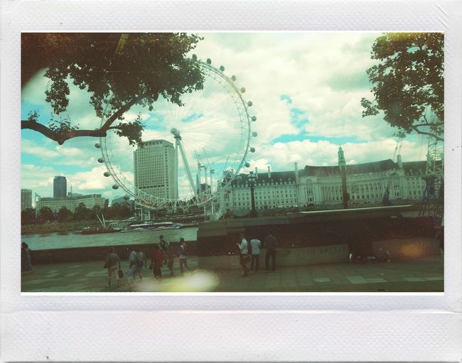 Hanging Out Taking Photos Check This Out Enjoying Vintage Enjoying Life Polaroid London Eye Urban Architecture Building And Sky Vintage Photo Palace Londoeye Londonlife London Urban Photography Afternoon Summer
