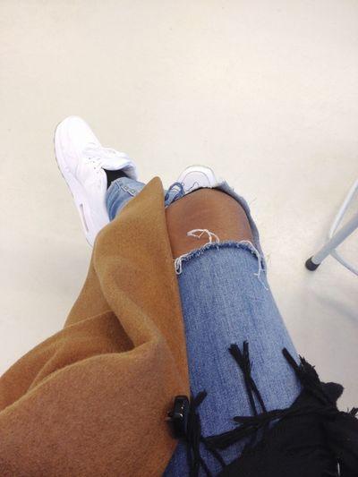 Nike Airmax Ripped Jeans Fashion Gorgeous Aesthetics Street Fashion Selfie