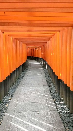 Corridor In Fushimi Inari Shrine
