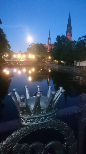 Uppsala by night. Uppsala Domkyrka Architecture Building Exterior Built Structure City History Illuminated Nature Nautical Vessel Night No People Outdoors Place Of Worship Sculpture Sky Spirituality Statue Travel Destinations Water