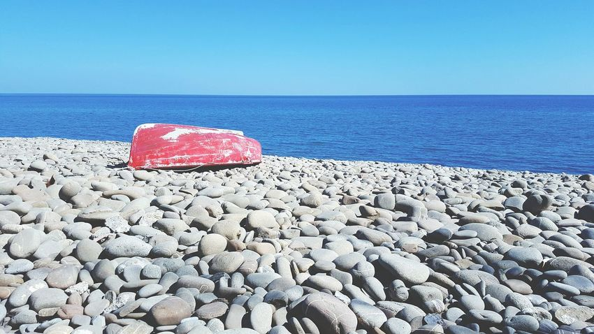 Sea Beach Blue Red Water Horizon Over Water No People Outdoors Day Beauty In Nature Clear Sky Sky Water_collection Nature Boat Ride Boats Boat Nature Beach Photography Beachphotography Sea And Sky Live For The Story