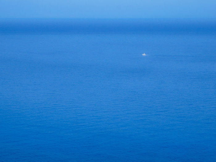 Ship Boat Blue Sea Sea No People Sailing Nautical Vessel Water Sky Ocean Views Loneliness Tranquility Lonely Objects Lost In Space...