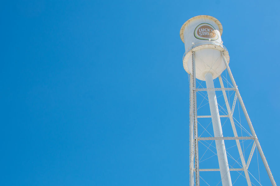 Lucky Strike Check This Out Hanging Out Taking Photos Sunny Blue Sky Bluesky Watertower Cigarettes Tobacco Logo Logo Design Iconic Nikon Nikonphotography Eyeemphotography EyeEm Best Shots Simplicity Simple Photography Simple