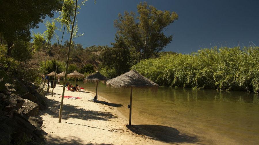 Alcoutim Algarve Playa Fluvial De Alcoutim Portugal