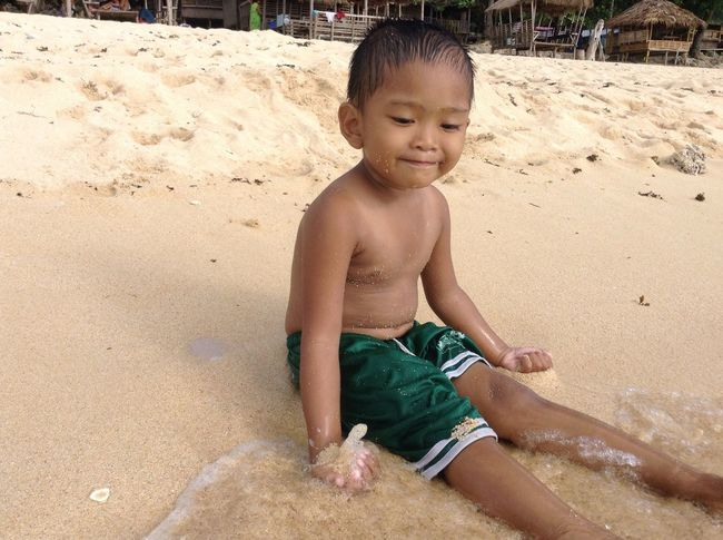 Day Happydays😎 Shore Swimming Time Swimming Outdoors Childhood Cute Innocence Smiling In Bolinao,Pangasinan Philippines