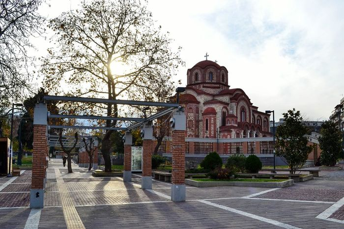 Xanthi Greece Grecia Xanthi Thrace Square Church Arch Architecture Sun Tree Sky Outdoors Day The City Light
