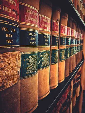 Shelf Order In A Row Large Group Of Objects Collection Bookshelf Choice No People Retail  Variation Store Arrangement Library Indoors  Business Close-up Day 💞the smell of old books Patents Trademark Old Book