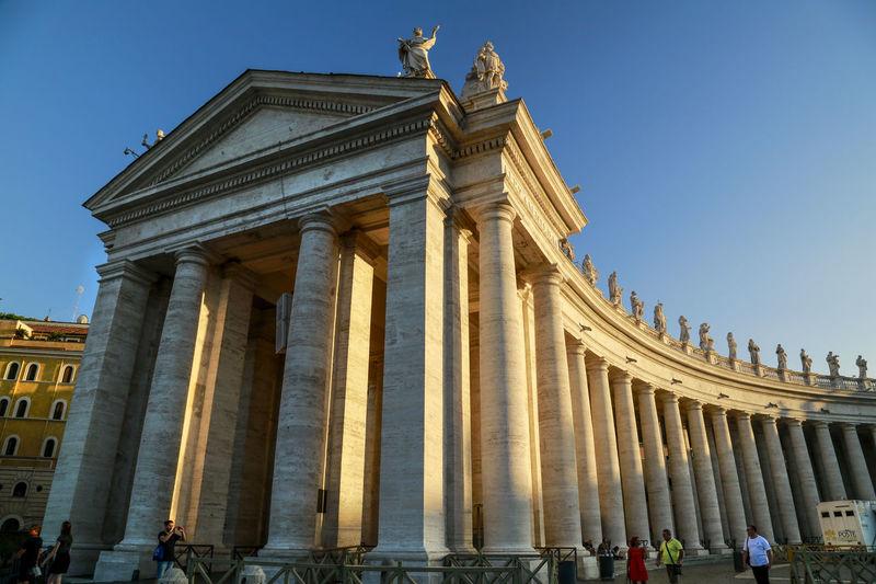 St Peter's Square VaticanCity St Peter's Square Architectural Column Architecture Travel Destinations Travel History Built Structure Building Exterior Sculpture
