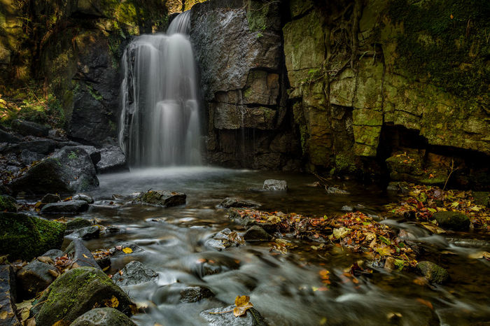 Waterfall with Autumn leaves Autumn beauty in Nature blurred motion day Freshness leaf long exposure motion Nature no people outdoors river rock - object scenics tranquil scene Tree water waterfall first eyeem photo EyeEmNewHere Autumn Beauty In Nature Blurred Motion Day Freshness Leaf Long Exposure Motion Nature No People Outdoors River Rock - Object Scenics Tranquil Scene Tree Water Waterfall