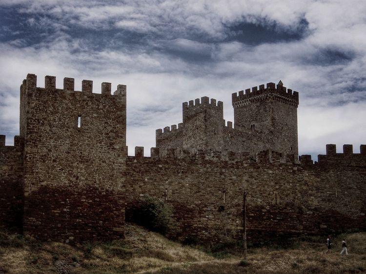 Fortress un Crimea Fortress Nature Histoty Mountains