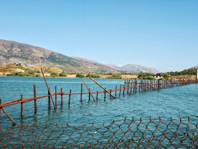 Landscape Albania Nature Lake Lake View Sunlight Outdoors Butrint Tranquility Mountain