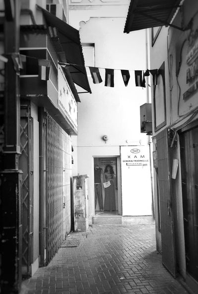 Monochrome Photography Marketplace Alley