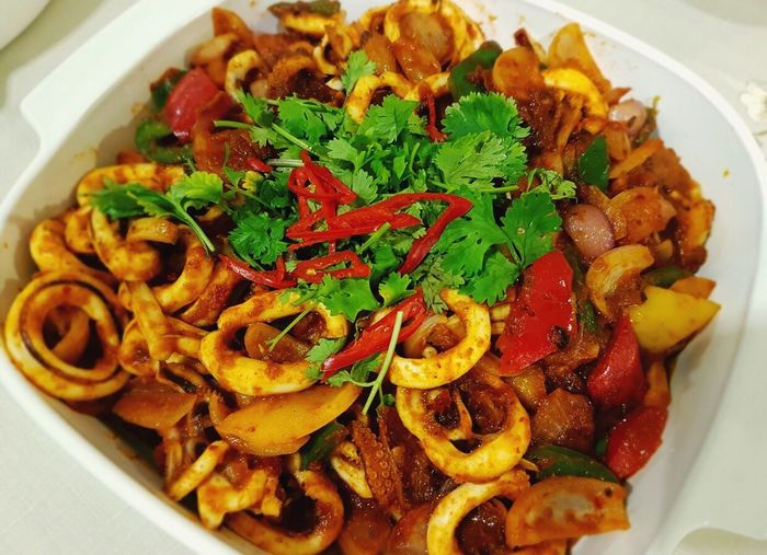 Samba Sotong Spicy Food Red Chili Food And Drink