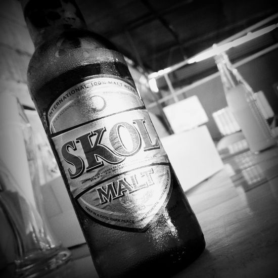 Monochrome Cold Beer Mon Petit Paradis Rwanda Posée Tranquillité Une Bonne Bière Sa Change Tout