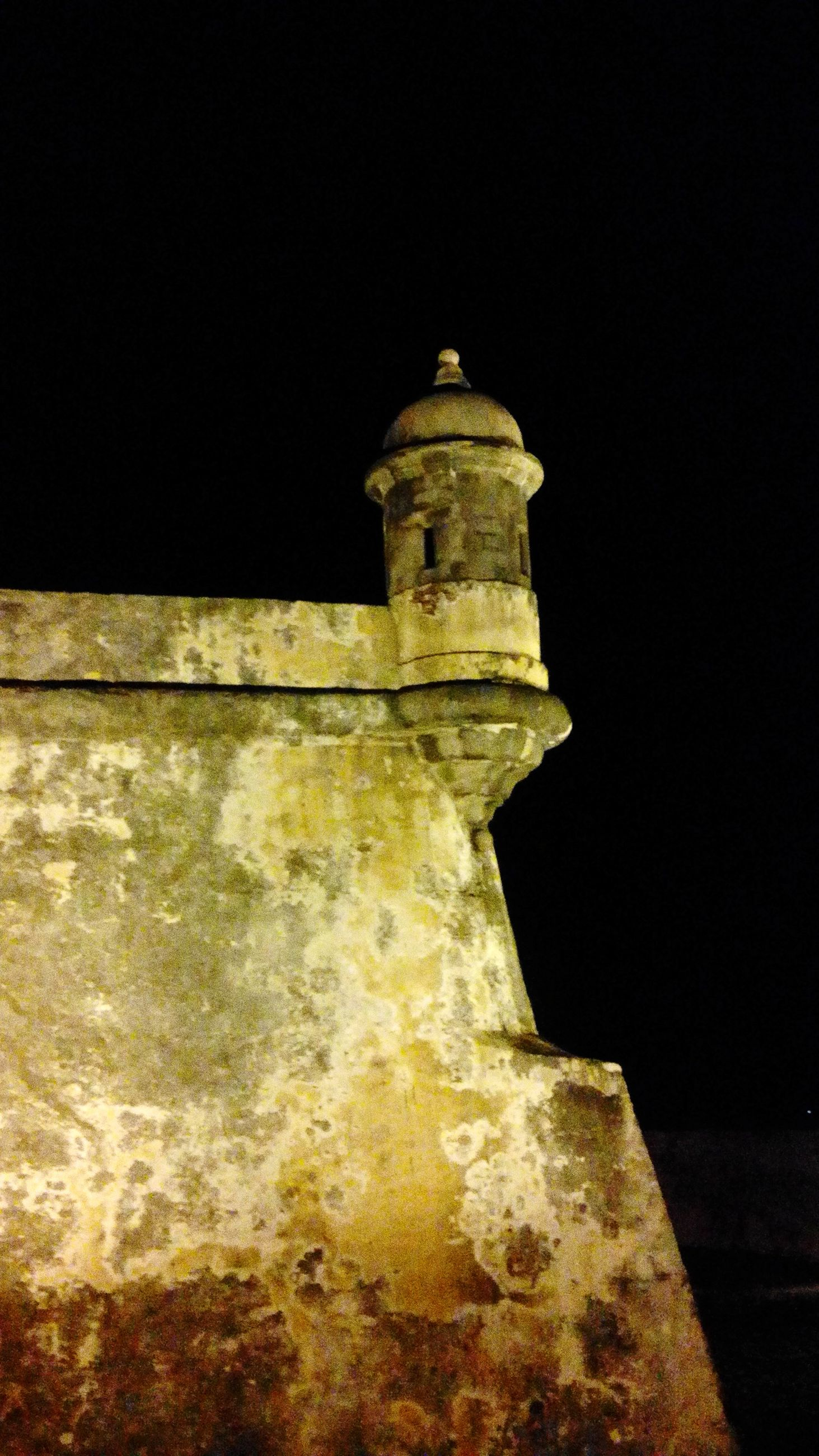 built structure, architecture, clear sky, night, copy space, building exterior, history, low angle view, old, ancient, no people, outdoors, illuminated, the past, wall - building feature, stone material, famous place, travel destinations, dark, religion