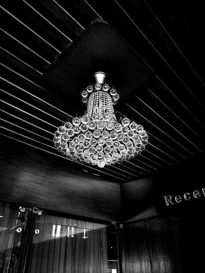 Monochrome Photography Blackandwhite Hanging Ceiling Black & White Black And White Photography Black And White Chandelier Light Chandeliers Chandelierlove