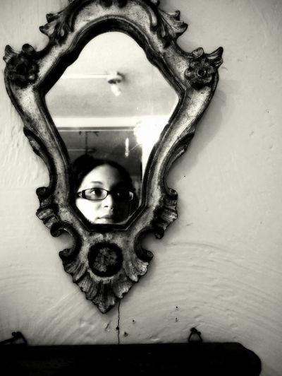 Vivian Maier Style Portrait Homage Self Portrait Black And White Photography Black And White Portrait Reflections Mirror Reflections Girl With Glasses
