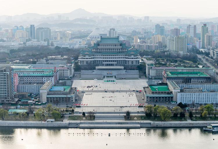 Pano from DPRK DPRK DPRKorea North Korea View Pyongyang Architecture Pyongyang Building Pyongyang Square Pyongyang Streets Pyongyang Skyline Architecture City Cityscape Juche Tower Pyongyang Waterfront