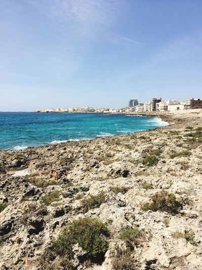 🇮🇹☀️ Beach Sea Water Day Sky Nature Sunlight Outdoors Beauty In Nature Horizon Over Water Scenics Built Structure Architecture Sand No People Travel Destinations Building Exterior Gallipoli Lecce Lifestyles