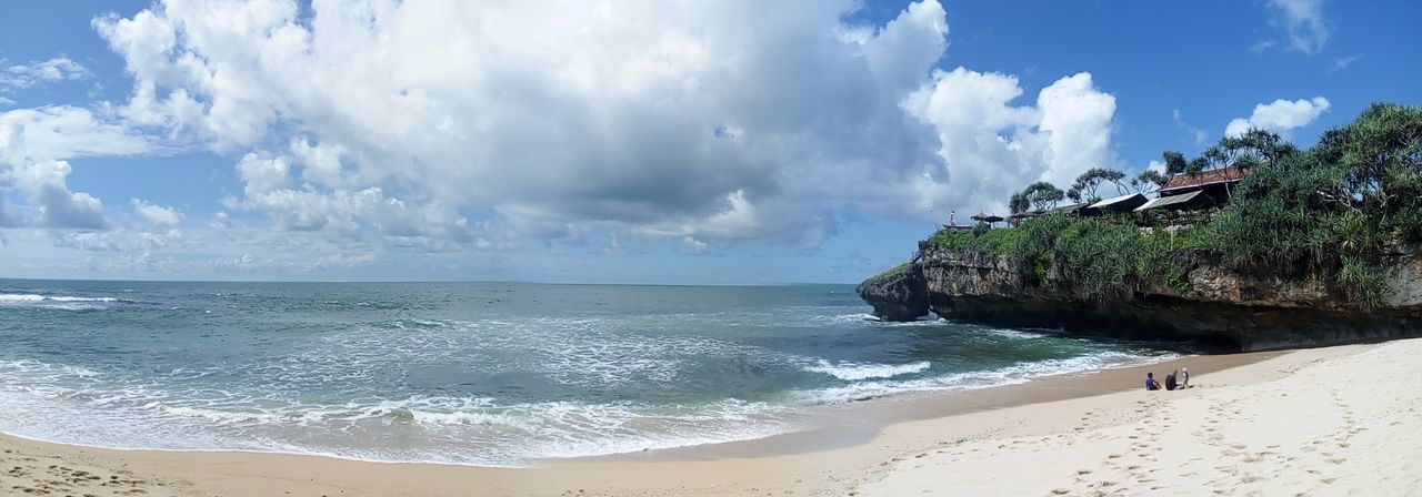 Beach Sea Sand Tropical Climate Cloud - Sky Nature Water Sky Vacations Beauty In Nature Travel Destinations Sun Landscape Summer Blue Wave Outdoors Arrival Beauty Scenics INDONESIA Yogyakarta Panorama Panoramic Photography