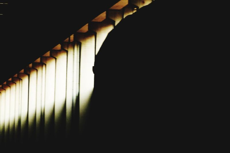 Architecture Indoors  Copy Space No People Built Structure Pattern 17.62° Shadow Wall - Building Feature Dark Close-up Silhouette Abstract Nature In A Row Metal Light - Natural Phenomenon Design
